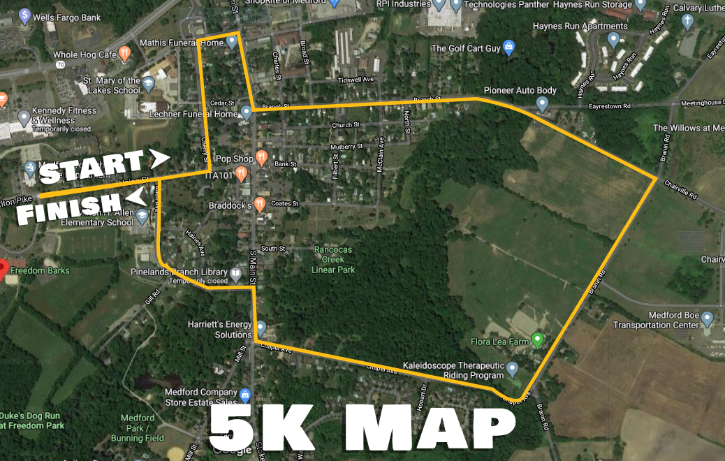 Stamp Out Hunger 5K Map
